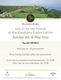 Join us for the Easter edition of Friends Of BlackSeaRama League!