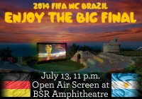 The World Cup Final 2014 night at BSR Amphitheatre